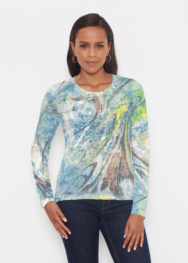 Orbit Teal (17161) ~ Signature Long Sleeve Crew Shirt
