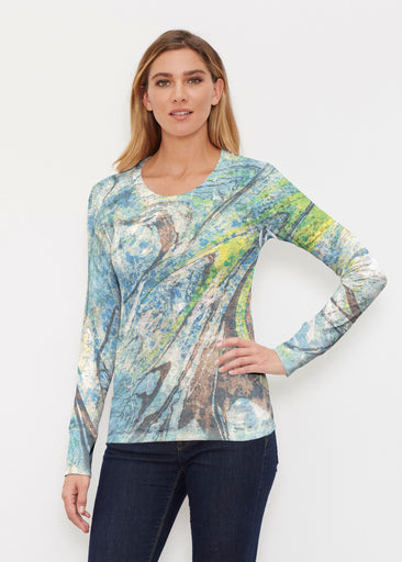 Orbit Teal (17161) ~ Thermal Long Sleeve Crew Shirt