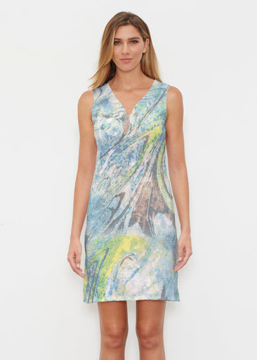 Orbit Teal (17161) ~ Classic Sleeveless Dress