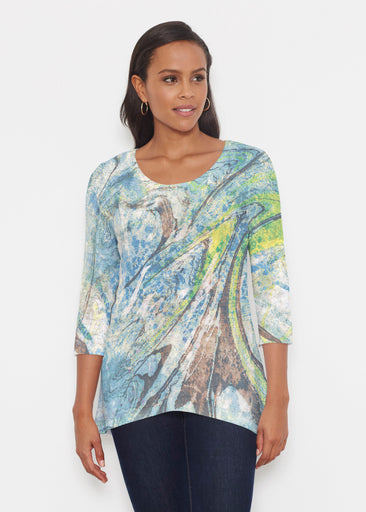 Orbit Teal (17161) ~ Katherine Hi-Lo Thermal Tunic