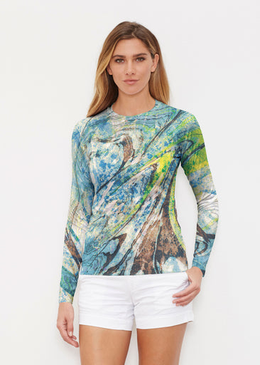 Orbit Teal (17161) ~ Long Sleeve Rash Guard