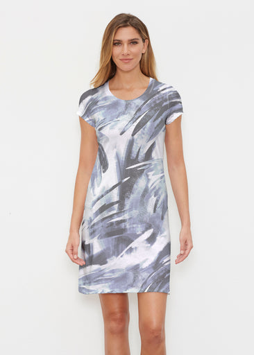 Brush Strokes Black (17167) ~ Classic Crew Dress