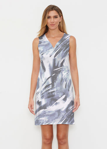 Brush Strokes Black (17167) ~ Classic Sleeveless Dress