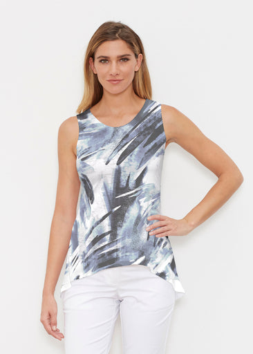 Brush Strokes Black (17167) ~ High-low Tank