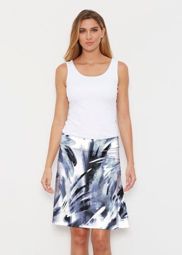 Brush Strokes Black (17167) ~ Silky Brenda Skirt 21 inch