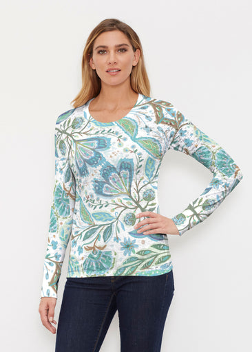 Spring Fantasy Green (17172) ~ Thermal Long Sleeve Crew Shirt