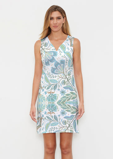 Spring Fantasy Green (17172) ~ Classic Sleeveless Dress