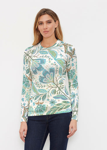 Spring Fantasy Green (17172) ~ Butterknit Long Sleeve Crew Top