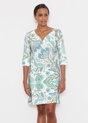 Spring Fantasy Green (17172) ~ Classic 3/4 Sleeve Sweet Heart V-Neck Dress