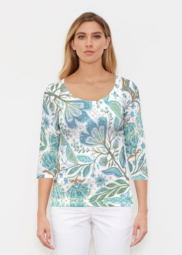 Spring Fantasy Green (17172) ~ Signature 3/4 Sleeve Scoop Shirt