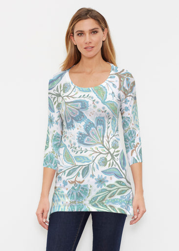 Spring Fantasy Green (17172) ~ Buttersoft 3/4 Sleeve Tunic