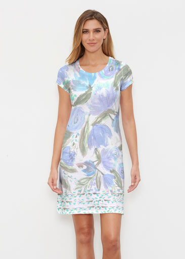 Monet Blue (17178) ~ Classic Crew Dress