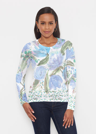 Monet Blue (17178) ~ Signature Long Sleeve Crew Shirt