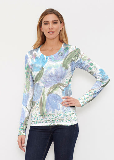 Monet Blue (17178) ~ Thermal Long Sleeve Crew Shirt