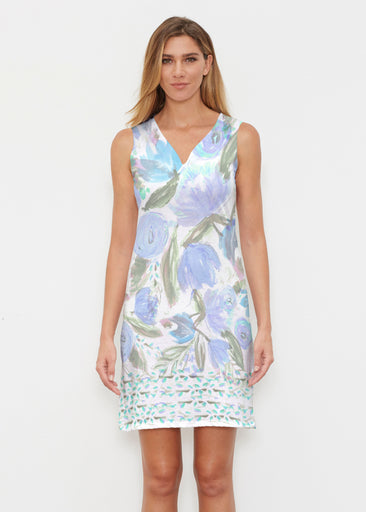Monet Blue (17178) ~ Classic Sleeveless Dress