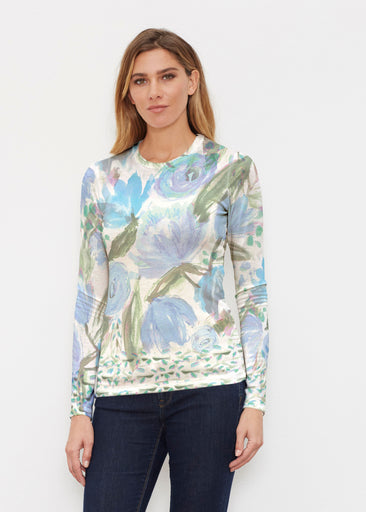 Monet Blue (17178) ~ Butterknit Long Sleeve Crew Top