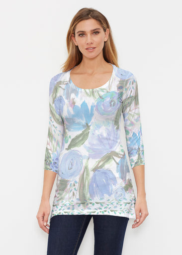 Monet Blue (17178) ~ Buttersoft 3/4 Sleeve Tunic