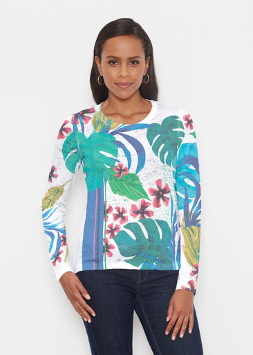 Jungle Stripe (17186) ~ Signature Long Sleeve Crew Shirt