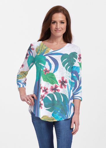 Jungle Stripe (17186) ~ Signature V-neck Flowy Tunic