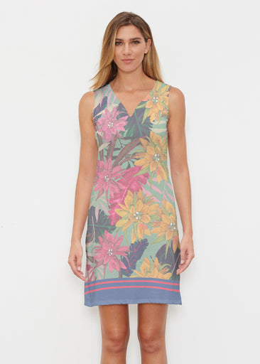 Autumn Stripe (17196) ~ Classic Sleeveless Dress