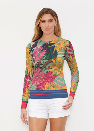 Autumn Stripe (17196) ~ Long Sleeve Rash Guard