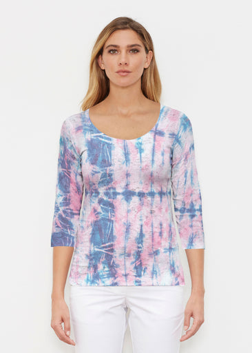 Colour Wash Pink (17198) ~ Signature 3/4 Sleeve Scoop Shirt