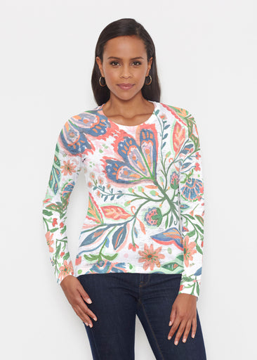 Spring Fantasy Pink (17225) ~ Signature Long Sleeve Crew Shirt