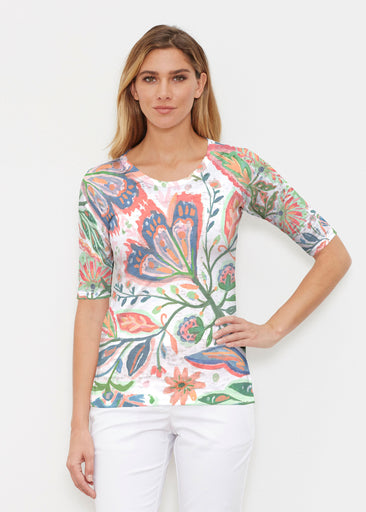 Spring Fantasy Pink (17225) ~ Signature Elbow Sleeve Crew Shirt
