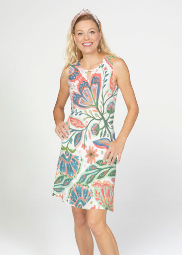 Spring Fantasy Pink (17225) ~ French Terry Keyhole Sleeveless Dress