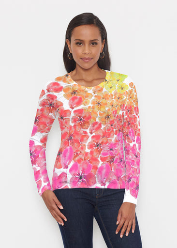 May Pink + Yellow (19016) ~ Signature Long Sleeve Crew Shirt
