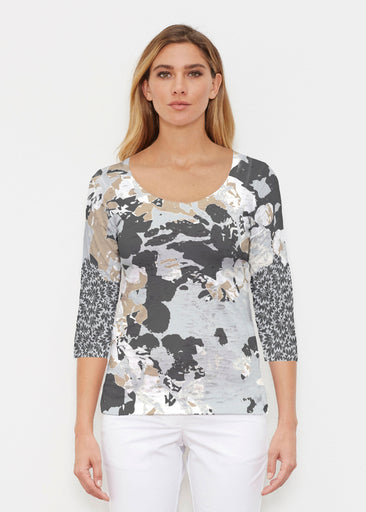 Frosted Gold (19109) ~ Signature 3/4 Sleeve Scoop Shirt