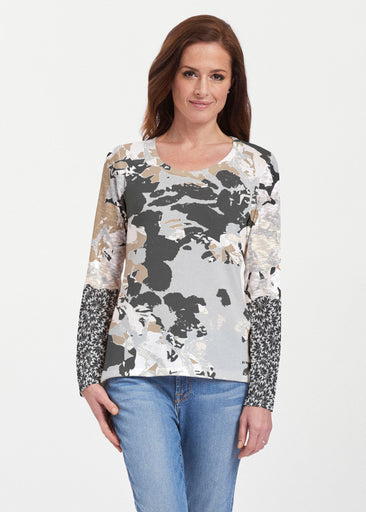 Frosted Gold (19109) ~ Texture Mix Long Sleeve
