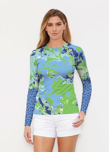 Frosted Green (19112) ~ Long Sleeve Rash Guard