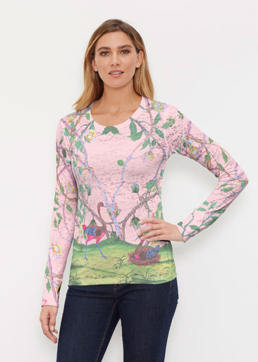 Wildwood Pink (19121) ~ Thermal Long Sleeve Crew Shirt
