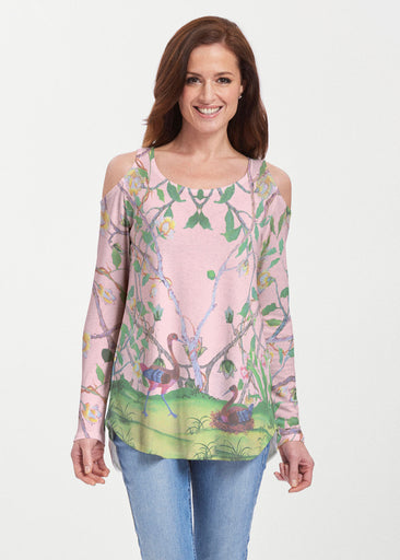 Wildwood Pink (19121) ~ Butterknit Cold Shoulder Tunic