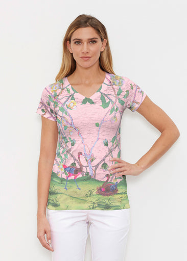 Wildwood Pink (19121) ~ Signature Cap Sleeve V-Neck Shirt