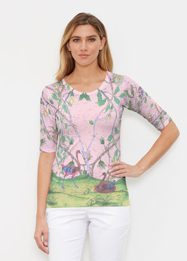Wildwood Pink (19121) ~ Elbow Sleeve Crew Shirt