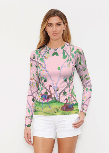 Wildwood Pink (19121) ~ Long Sleeve Rash Guard