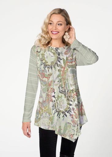 Jungle Escape  (19156) ~ Asymmetrical French Terry Tunic