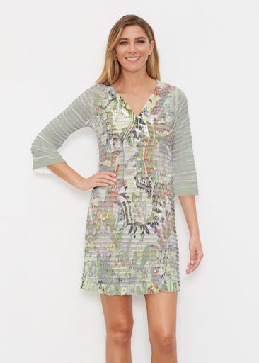 Jungle Escape (19156) ~ Banded 3/4 Sleeve Cover-up Dress