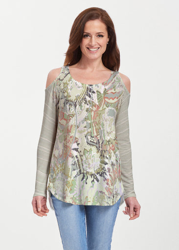 Jungle Escape (19156) ~ Butterknit Cold Shoulder Tunic
