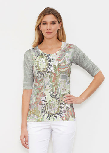 Jungle Escape (19156) ~ Signature Elbow Sleeve Crew Shirt