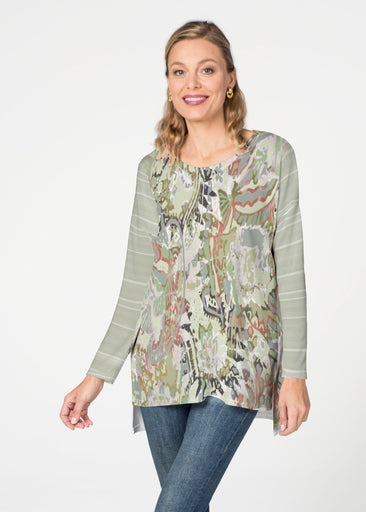 Jungle Escape (19156) Slouchy Butterknit Top