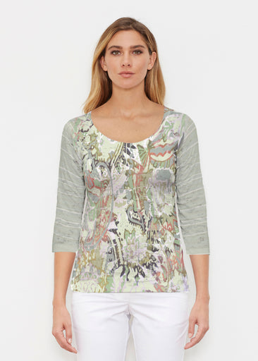 Jungle Escape (19156) ~ Signature 3/4 Sleeve Scoop Shirt