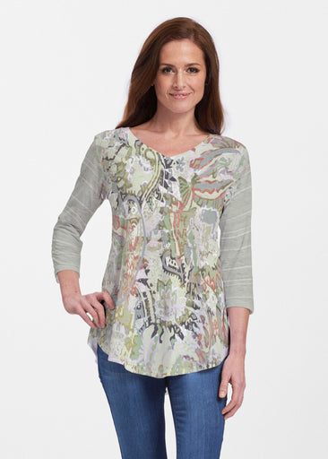 Jungle Escape (19156) ~ Signature V-neck Flowy Tunic