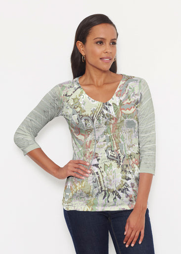 Jungle Escape (19156) ~ Signature 3/4 V-Neck Shirt