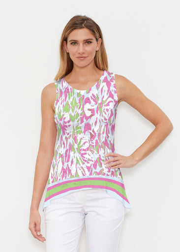 Mystic Floral Stripe (19167) ~ Signature High-low Tank
