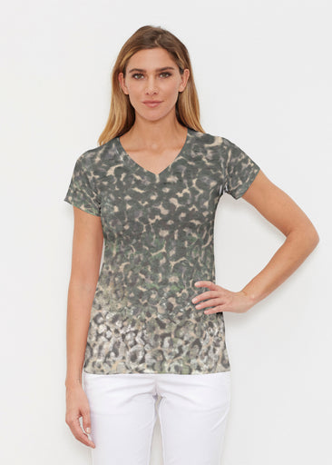 Camo Cheetah Green (2001) ~ Signature Cap Sleeve V-Neck Shirt