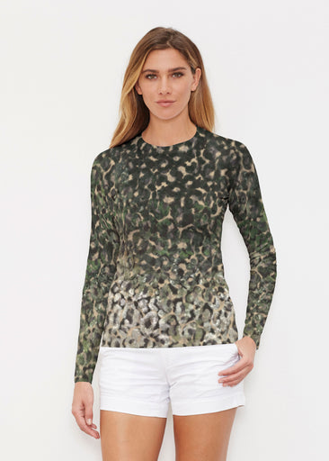 Camo Cheetah Green (2001) ~ Long Sleeve Rash Guard