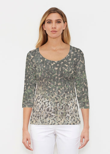 Camo Cheetah Green (2001) ~ Signature 3/4 Sleeve Scoop Shirt